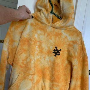 yellow tie dye zoo york hoodie